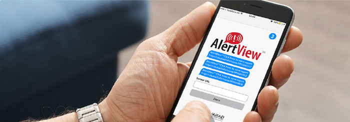 Physicians can access the AlertView app